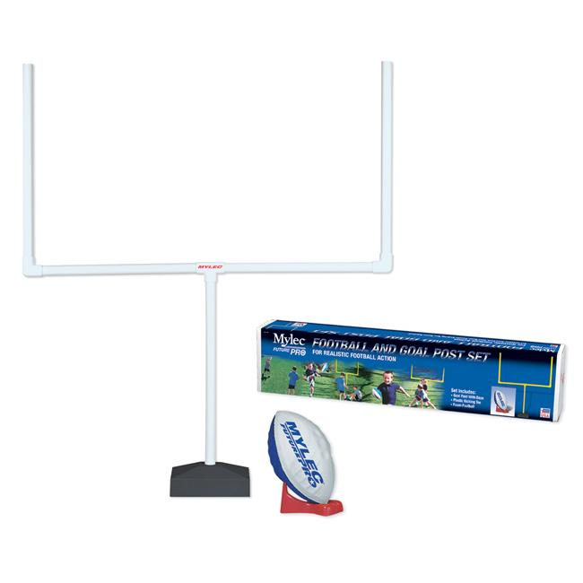 White PVC-pipes Football Goalpost Set with Foam Ball and Tee