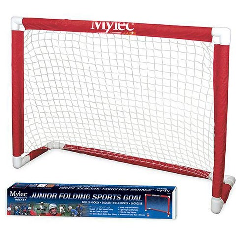 Mylec Junior Red PVC Folding 48-inch Sports Goal with Nylon Net