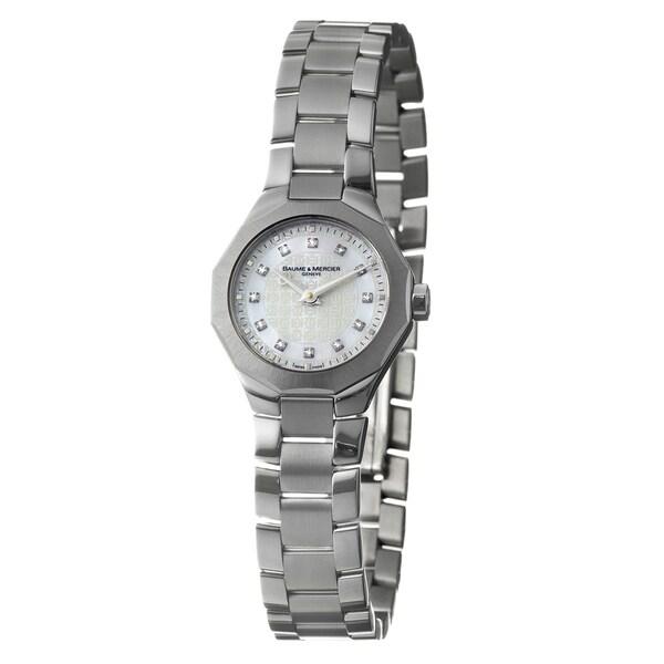 Baume & Mercier Women's 'Riviera' Stainless Steel Diamond Accent Quartz Watch