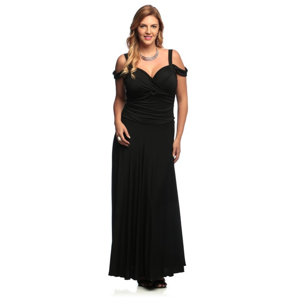 abccb336ee3 Shop Evanese Women s Plus Size Elegant Long Dress - Free Shipping ...