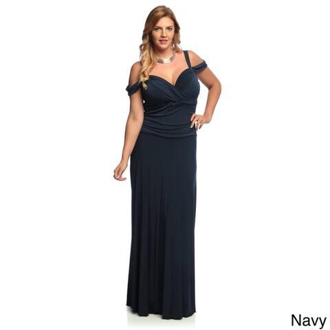 Evanese Women's Plus Size Elegant Long Dress