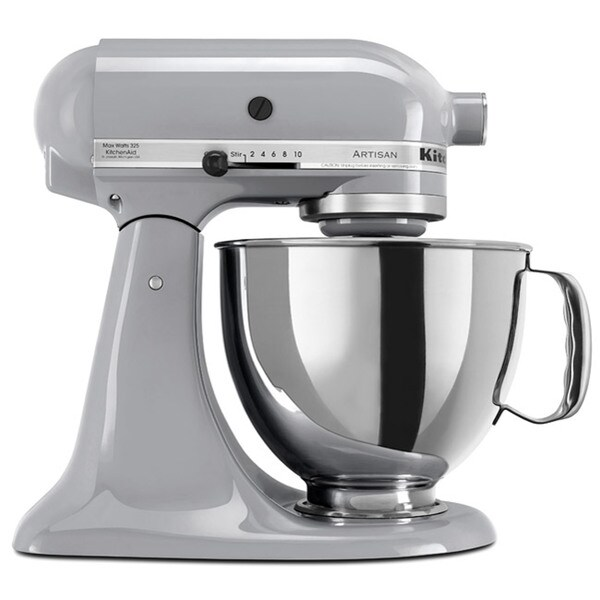 KitchenAid RRK150MC Metallic Chrome 5-quart Artisan Tilt-Head Stand Mixer (Refurbished)