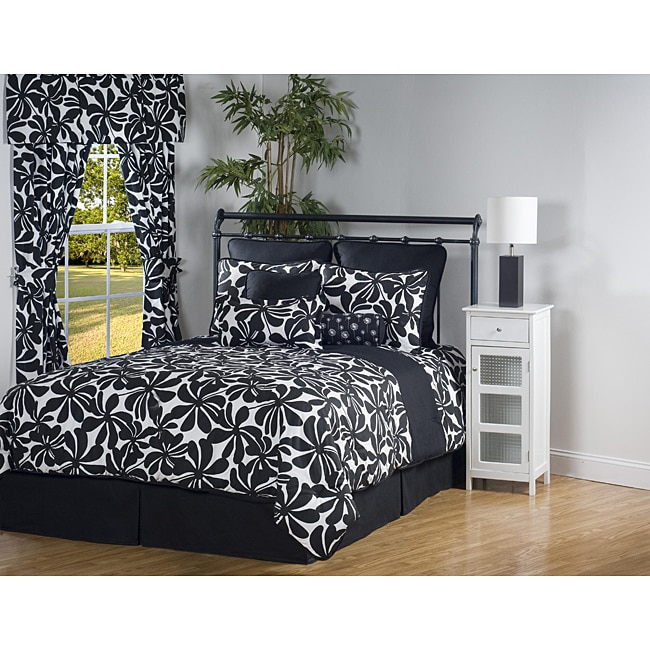 Swirl 7-piece Twin XL-size Comforter Set