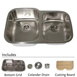 Highpoint Collection Stainless Steel 32-inch Undermount 60/40 2-bowl Kitchen Sink
