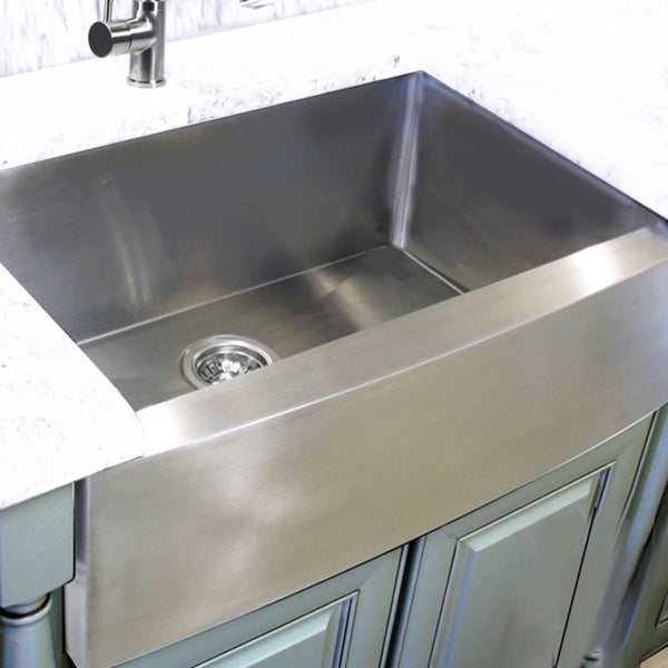 shop stainless steel 30 inch farmhouse apron sink on sale free rh overstock com 30 inch cast iron farmhouse kitchen sink vigo 30 inch farmhouse stainless steel kitchen sink
