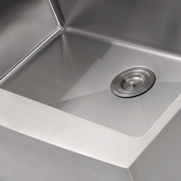 Stainless Steel 30 Inch Farmhouse Apron Sink   Free Shipping Today    Overstock.com   13038971