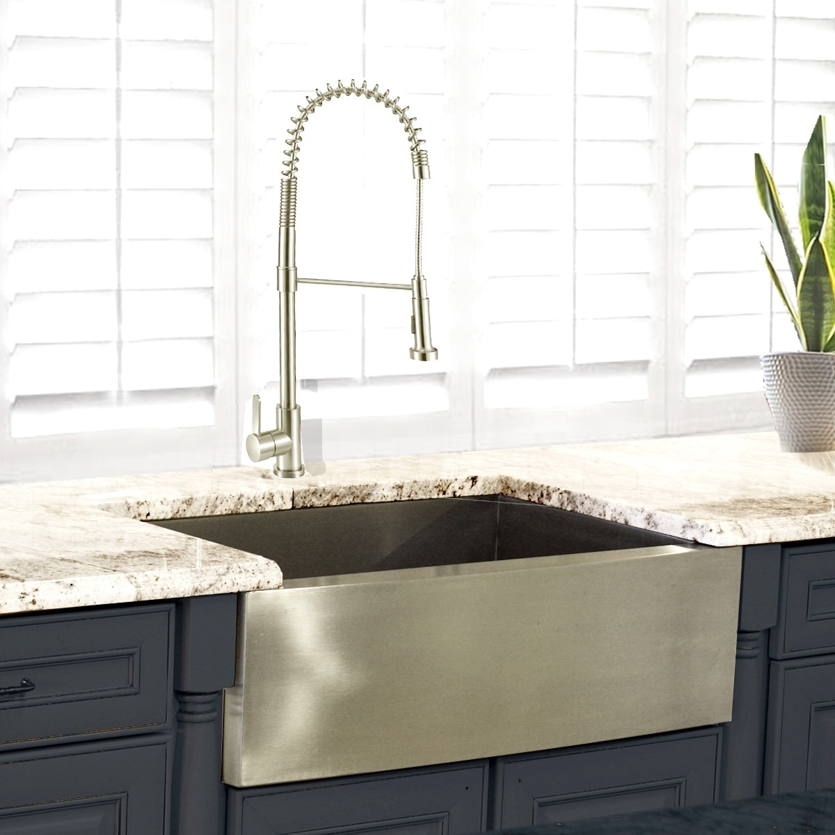 Stainless Steel 30 Inch Farmhouse A Sink On