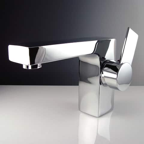 Fresca Isarus Single Hole Mount Chrome Bathroom Faucet