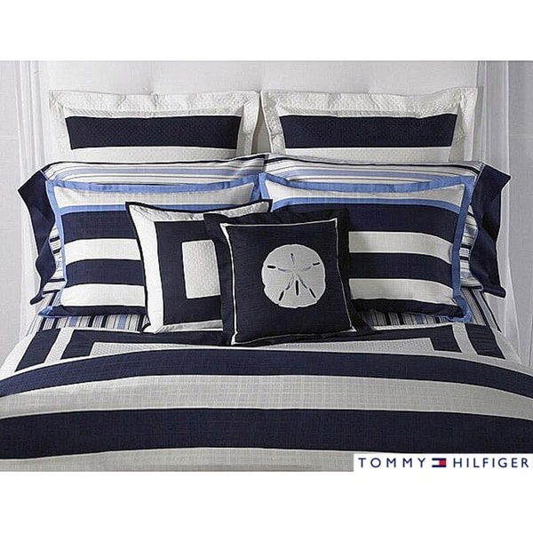 Tommy Hilfiger Captiva King Size 7 Piece Duvet Cover Bedding Ensemble With Sheet Set Free