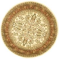 "Safavieh Lyndhurst Traditional Oriental Ivory/ Rust Rug - 5'3"" x 5'3"" round"