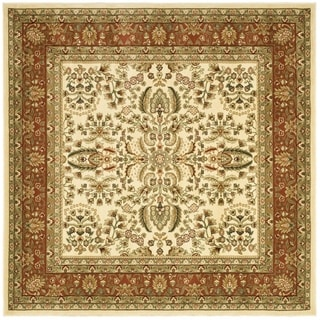 Safavieh Lyndhurst Traditional Oriental Ivory/ Rust Rug (6' Square)