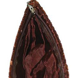 Handmade Beaded 'Caramel Waves' Handbag (Indonesia) - Thumbnail 1