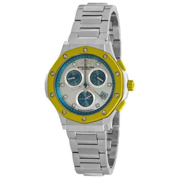 Stuhrling Original Women's Yellow Cosmo Lady Chronograph Watch