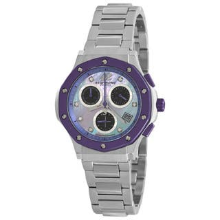 Stuhrling Original Women's Purple Cosmo Lady Chronograph Watch|https://ak1.ostkcdn.com/images/products/5209866/P13039176.jpg?impolicy=medium
