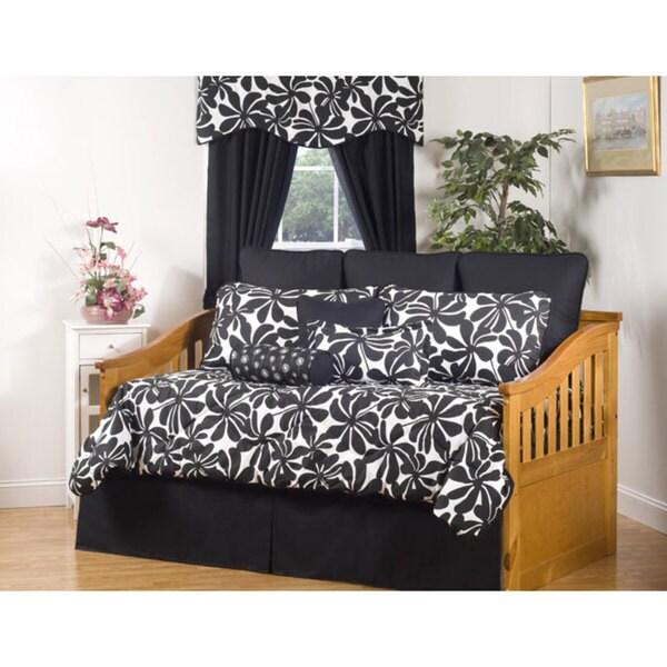 Swirl Black and White 10-Piece Cotton Daybed Set