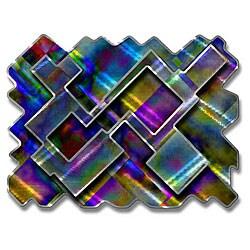 Ash Carl 'Psychedelic Labyrinth' Metal Wall Art