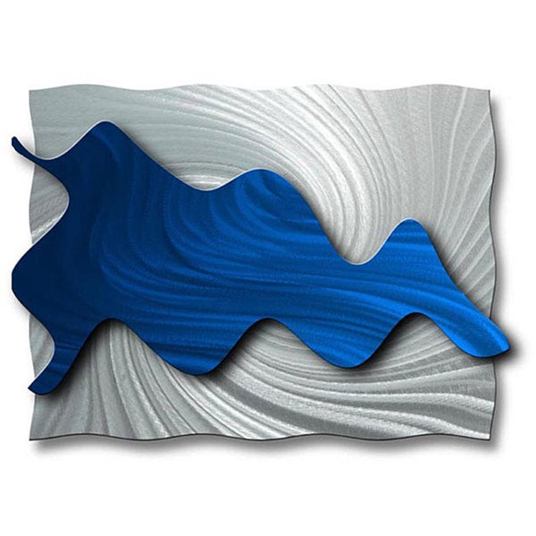 Blue Metal Wall Art ash carl 'hydrodynamic' metal wall art - free shipping today