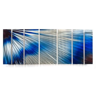 Ash Carl 'Brightness' 7-panel Abstract Metal Wall Art