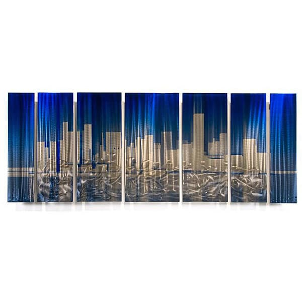 Ash Carl 'Cityscape' Metal Wall Art