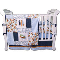 Moose 6 Piece Crib Set Trend Lab Surfs Up 6-p...
