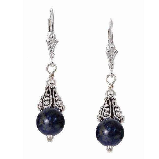 Lola's Jewelry Sterling Silver Blue Lapis Earrings
