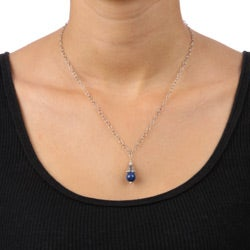 Lola's Jewelry Sterling Silver Blue Lapis Necklace