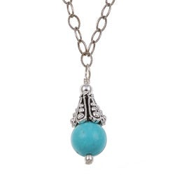 Charming Life Sterling Silver Turquoise Necklace