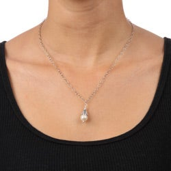 Charming Life Sterling Silver White Freshwater Pearl Necklace (8 mm)