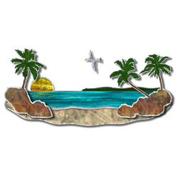 Steve Heriot 'Paradise Beach' Wall Metal Art