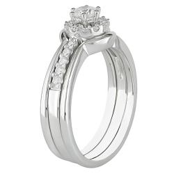 14k White Gold 1/2ct TDW Diamond Engagement Ring (H-I, I2-I3)