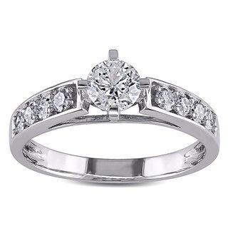 Miadora Signature Collection 14k White Gold 1ct TDW Diamond Engagement Ring (H-I, I2-I3)