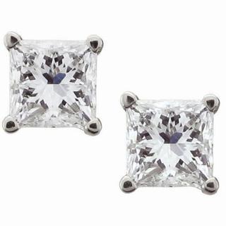 Montebello 14k White Gold 1/4ct TDW Certified Diamond Stud Earrings