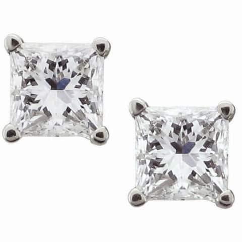 Montebello 14KT White Gold 1/2ct TDW Certified Diamond Stud Earrings