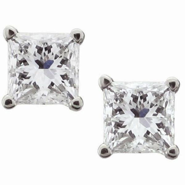 Montebello 14k White Gold 1/2ct TDW Certified Diamond Stud Earrings (H-I, SI1-SI2)
