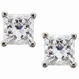 Montebello 14k White Gold 1/4ct TDW Certified Diamond Stud Earrings (I-J, I2)