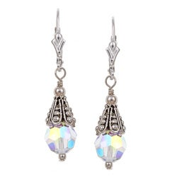 Charming Life Sterling Silver Clear Crystal Earrings