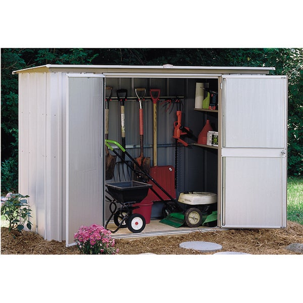arrow eggshell steel garden shed free shipping today overstockcom 13041757