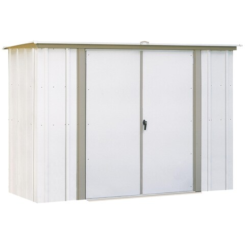 Arrow GS83-C Eggshell Galvanized Steel Garden Shed (8' x 3')