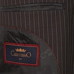 Men's Black Striped 3-button Suit