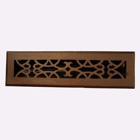 Victorian Scroll Design Bronze 2.25x14-inch Floor Register