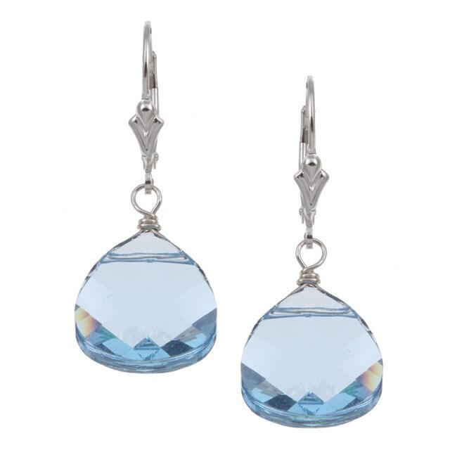 Lola's Jewelry Sterling Silver Blue Crystal Briolette Earrings