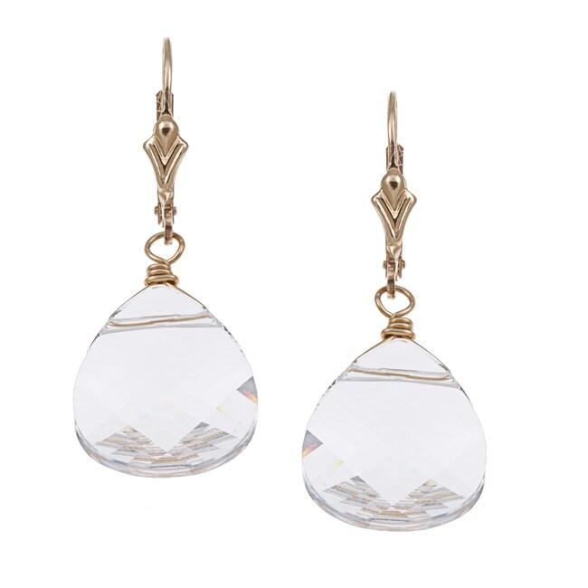 Lola's Jewelry 14k Goldfill Clear Crystal Briolette Earrings