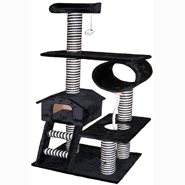 Go Pet Club 60-inch Condo House Cat Tree Pet Furniture