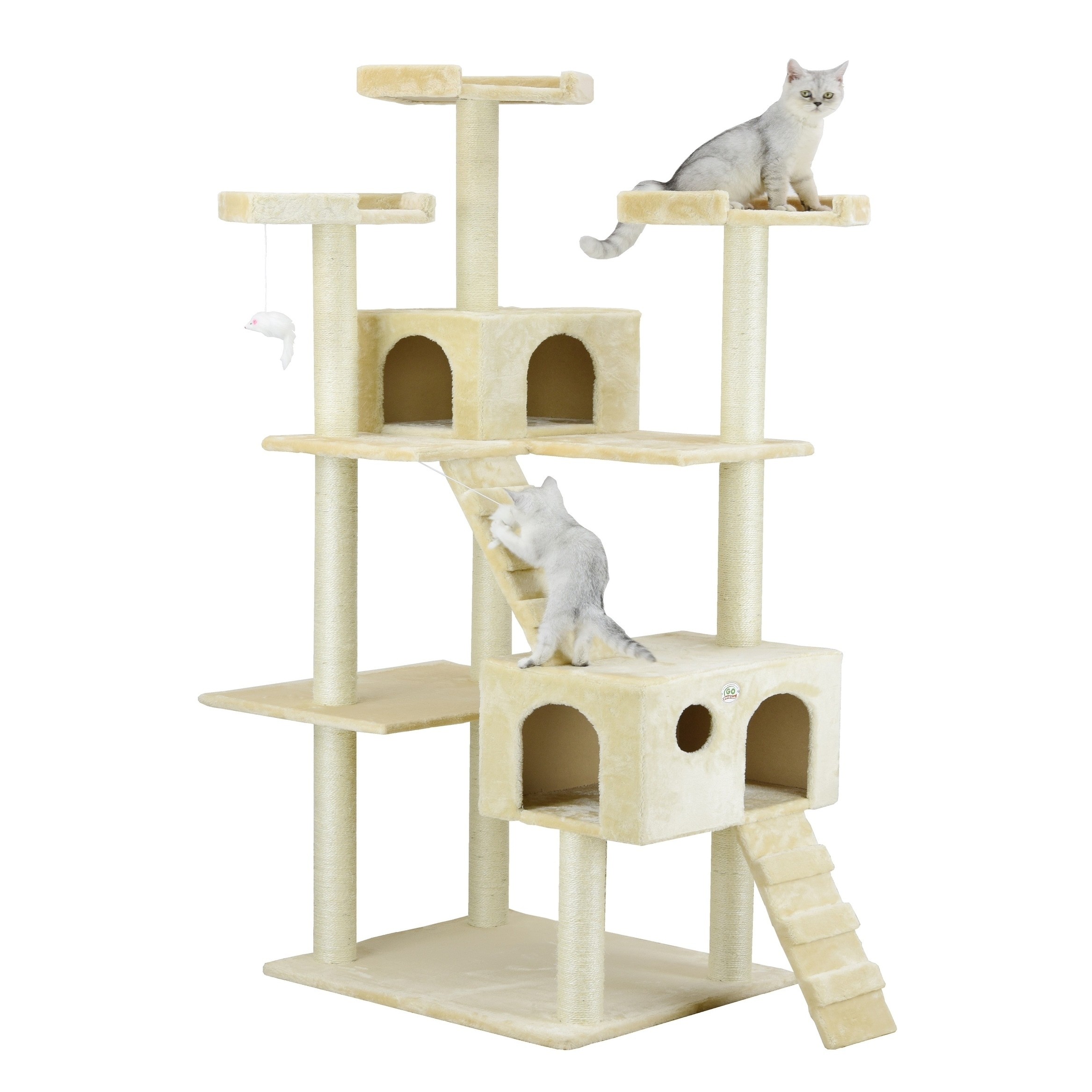 GoPetClub Jungle Gym Cat Tree Condo and Perch Pet Furnitu...