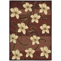 Nourison Hand-hooked Red Paradise Floral Rug (7'3 x 9'3)