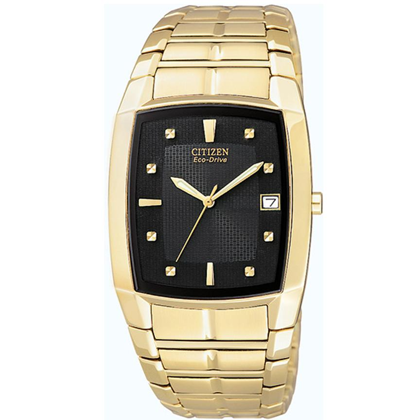 Citizen Men's Stainless Steel Goldtone Eco-Drive Watch