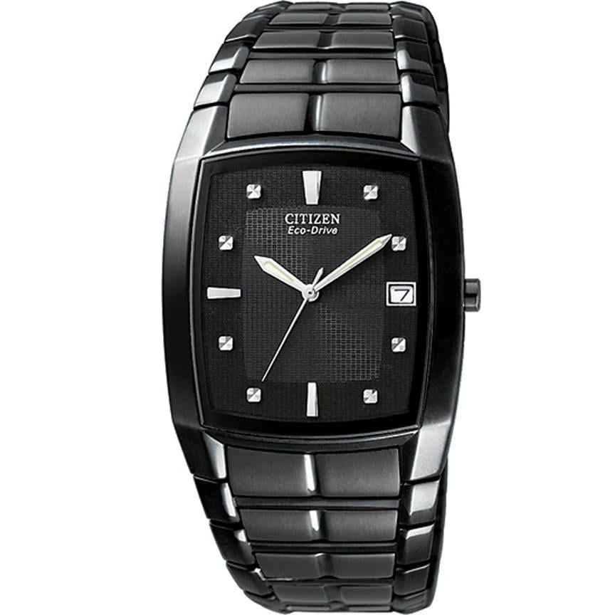 Citizen Men's Ion-plated Stainless Steel Black Eco-Drive Watch