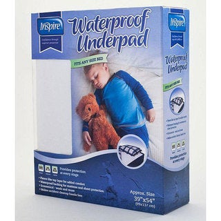 Inspire Reusable Waterproof Children's 39x54-inch Bed Pad