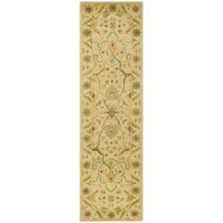 Safavieh Handmade Mahal Ivory Wool Runner Rug (2'3 x 12')