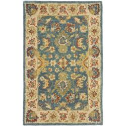 Safavieh Handmade Jaipur Blue/ Beige Wool Rug (2' x 3')